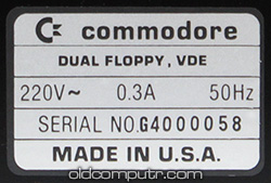 Commodore 4040 - Serial number