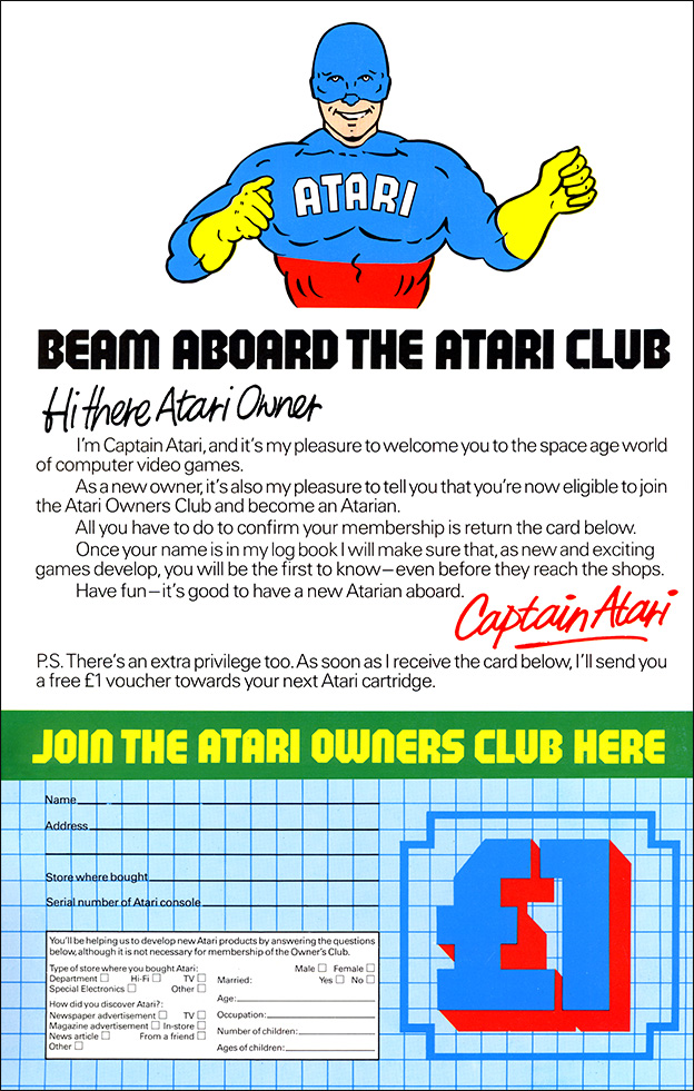 Atari 2600 - Beam aboard the Atari Club