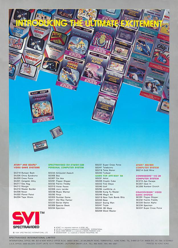 Spectravideo QuickShot II leaflet - Back