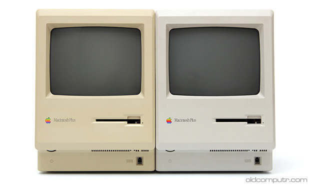Apple Macintosh Plus - beige and gray