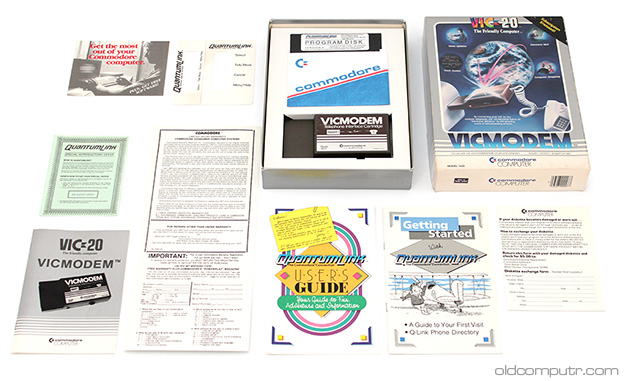 Commodore VICMODEM - box contents