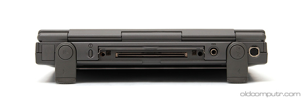 Apple PowerBook 2300c (back, ports)