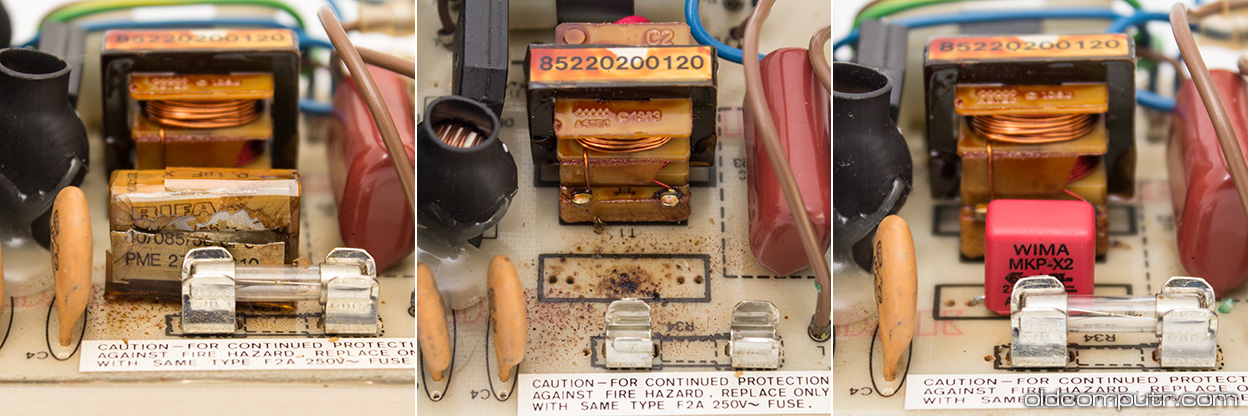 Apple IIe - power supply filter