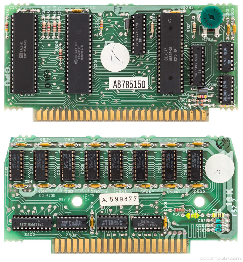 Atari 400 CPU and RAM boards
