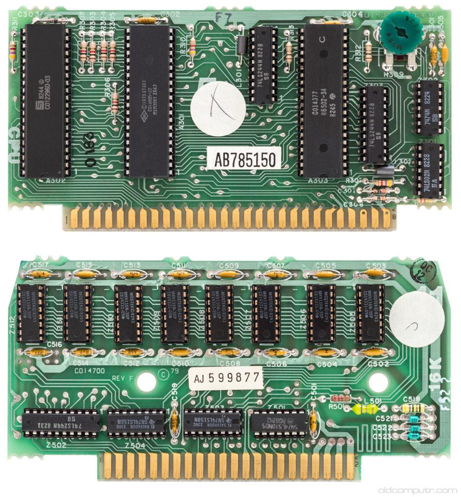 Atari 400 CPU and RAM boards