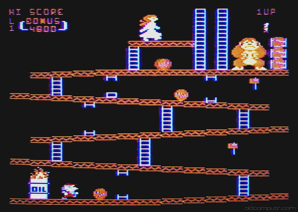Atari 400 - Donkey Kong