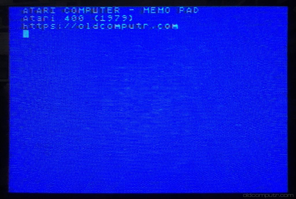 Atari 400 Memo pad